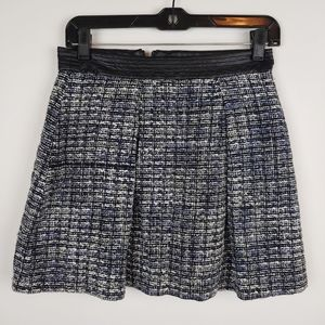 Tweed mini skirt black & white xs
